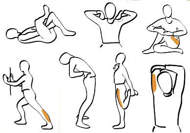 strækøvelser ben